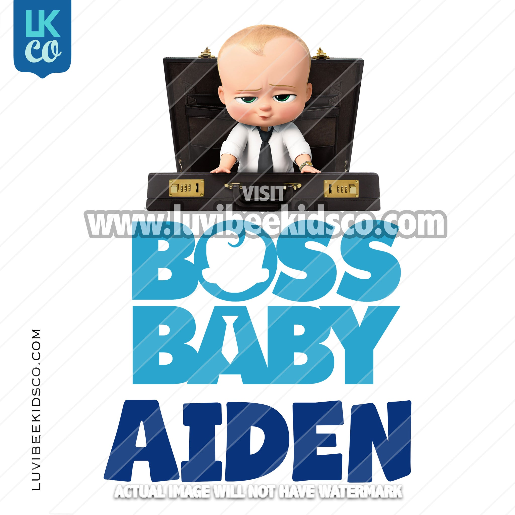 Boss Baby Iron On Transfer | Blue Baby Boy | Briefcase - LuvibeeKidsCo