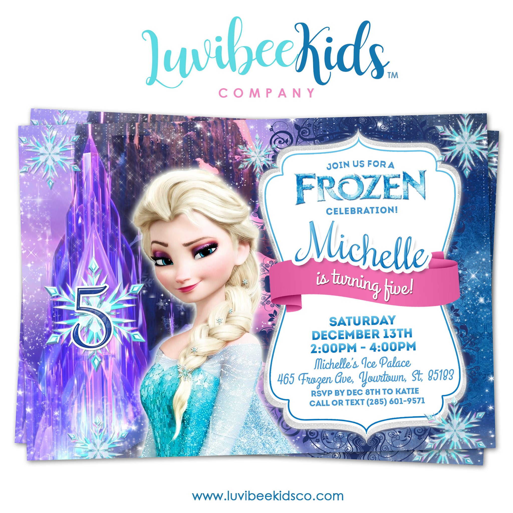 photograph relating to Printable Frozen Birthday Invitations called Frozen Birthday Invitation Frozen Elsa Birthday Occasion Printables