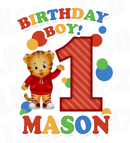 Daniel Tiger Iron On Transfer | Birthday for Boy or Girl