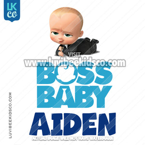 Boss Baby Iron On Transfer | Blue - Baby Boy - LuvibeeKidsCo