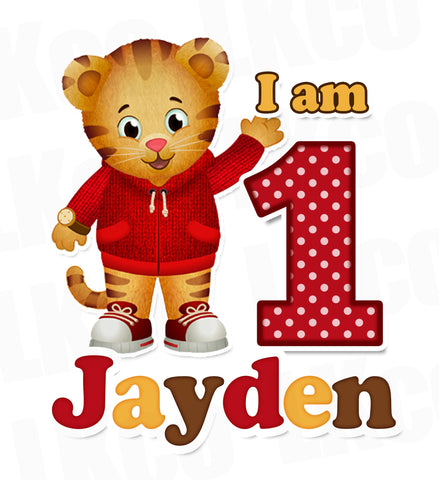 Daniel Tiger Iron On Transfer | Red Yellow Brown | Style 02 - LuvibeeKidsCo