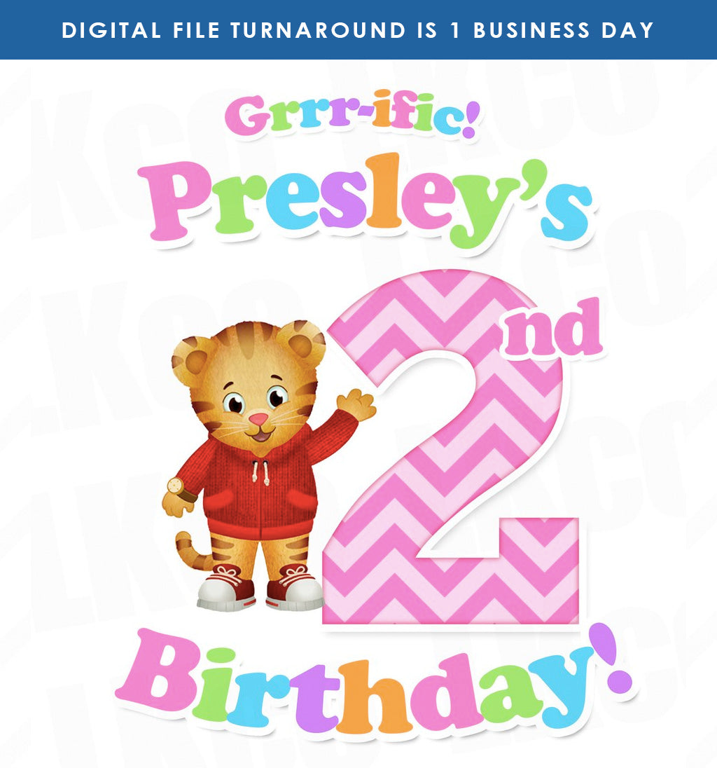 Daniel Tiger Iron On Transfer for Girls | Grrr-ific Birthday - LuvibeeKidsCo