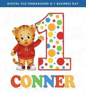 Daniel Tiger Iron On Transfer | Dots | Primary Colors - LuvibeeKidsCo