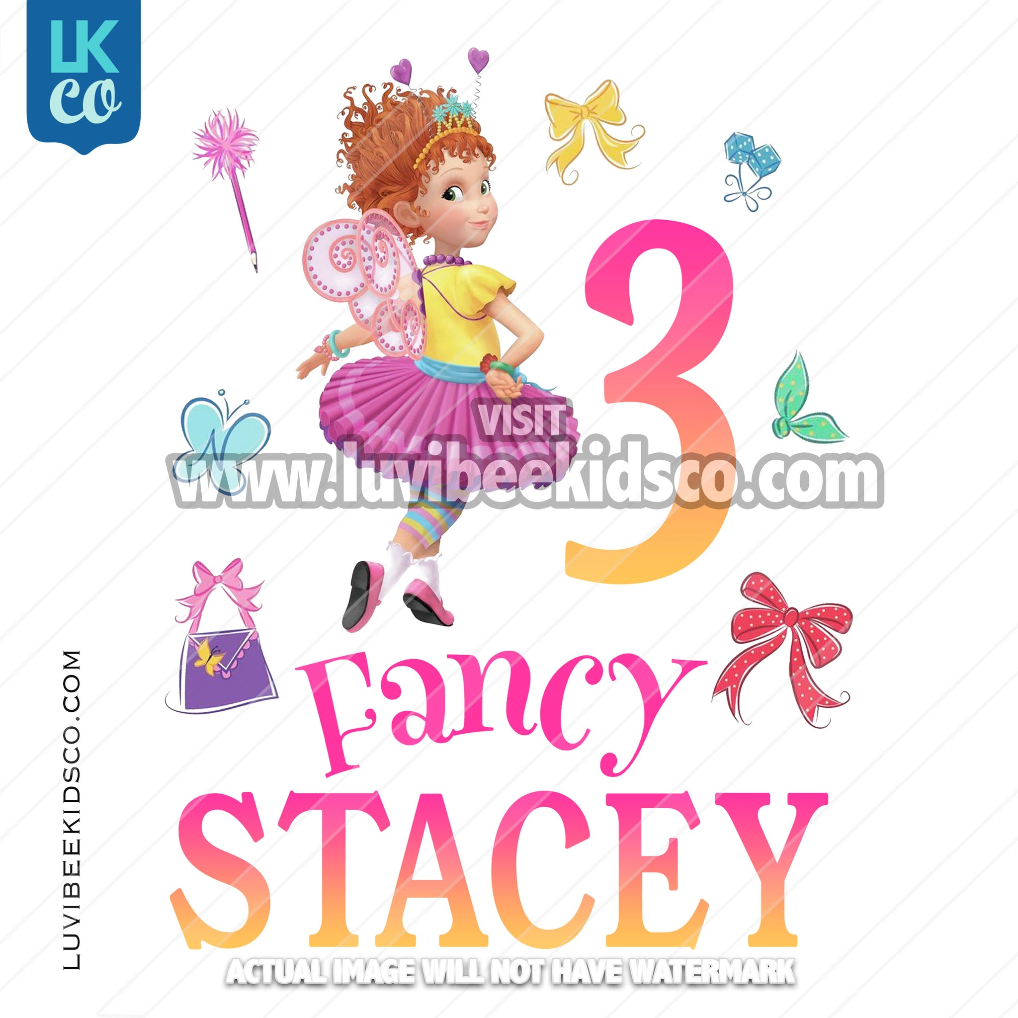 Fancy Nancy Iron On Transfer - LuvibeeKidsCo