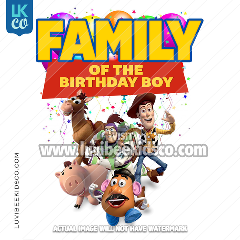 Toy Story Heat Transfer Designs - Add Family Members - Balloons Version 2