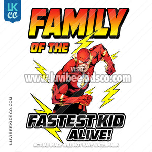 The Flash Heat Transfer Designs - Add Family Members - LuvibeeKidsCo