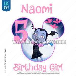 Vampirina Iron On Transfer - Birthday Girl - Style 2 - LuvibeeKidsCo