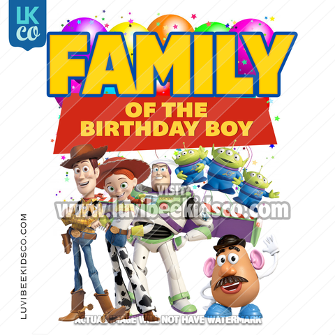 Toy Story Heat Transfer Designs - Add Family Members - Balloons