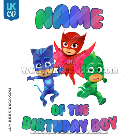 PJ Masks Iron On Transfer | Add Family Members - V2 - LuvibeeKidsCo