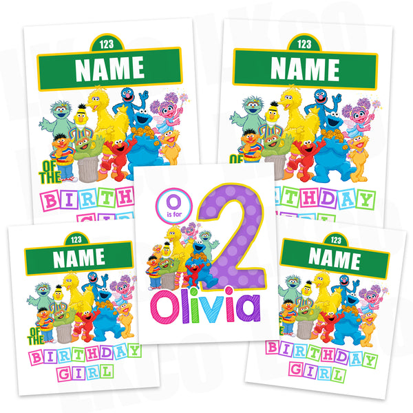 Sesame Street Iron On Transfers Family Pack | Birthday Girl Style 2 - LuvibeeKidsCo