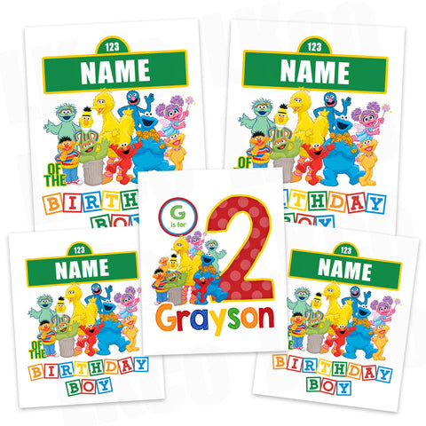 Sesame Street Iron On Transfers Family Pack | Birthday Boy Style 2 - LuvibeeKidsCo