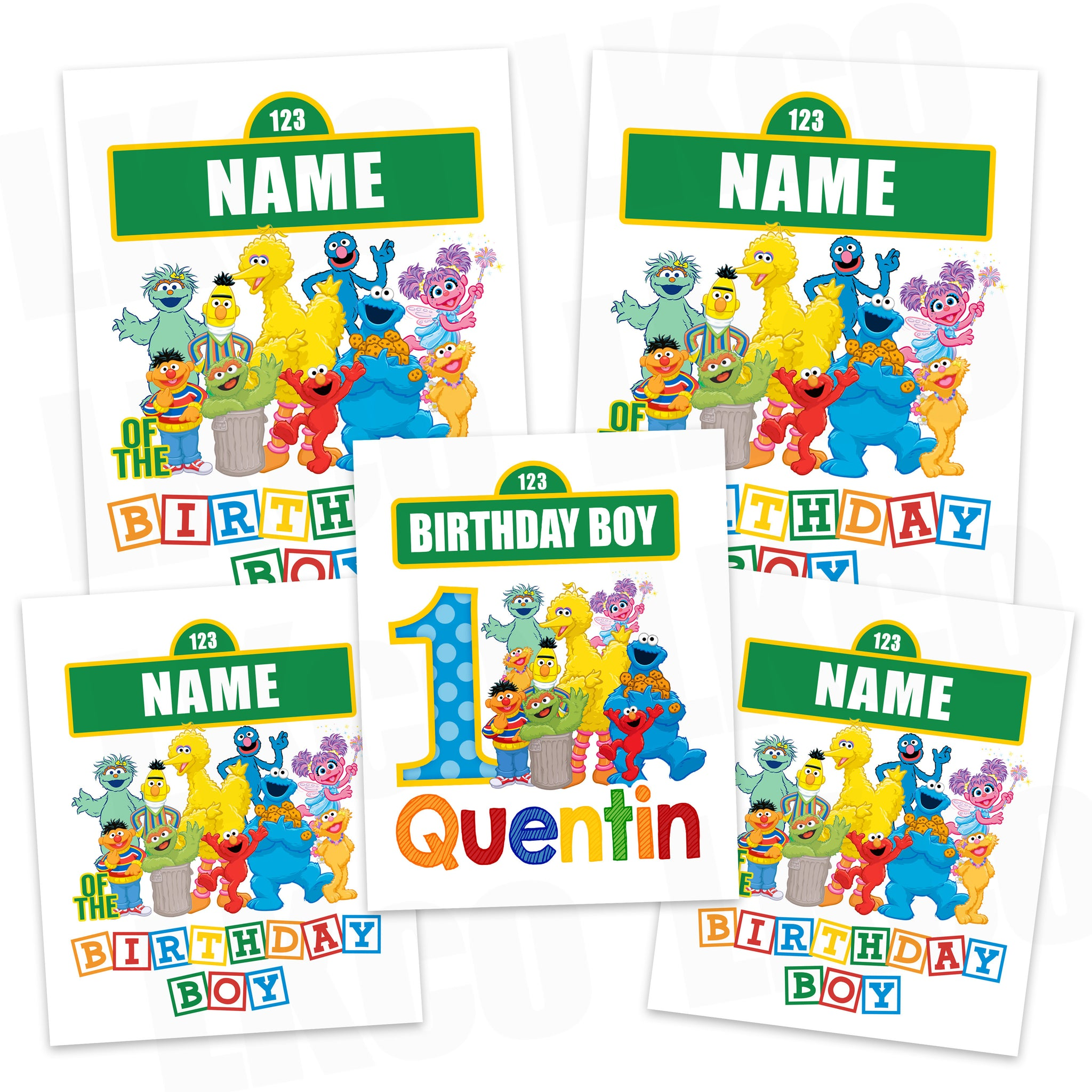 Sesame Street Iron On Transfers Family Pack | Birthday Boy - LuvibeeKidsCo