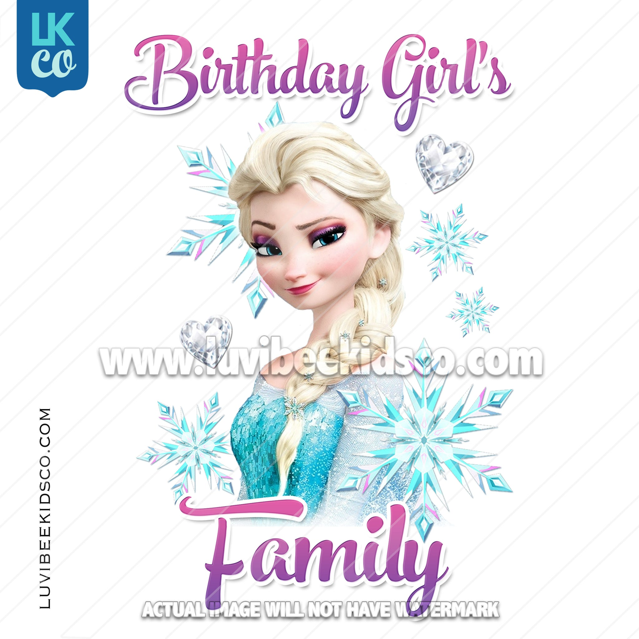 Frozen Iron On Transfer | Elsa - Birthday Girl's Family Member - LuvibeeKidsCo