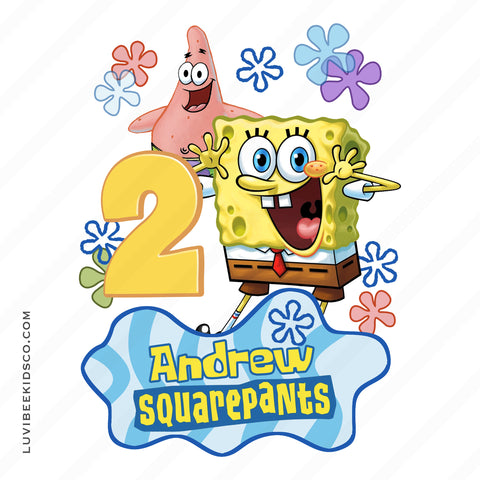 Spongebob Squarepants Iron On Transfer Design - LuvibeeKidsCo