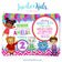 Daniel Tiger Invitation for Girls - Colorful Pink & Purple - Style #011