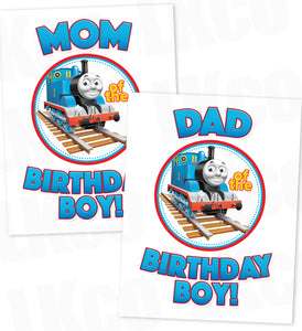 Thomas the Train Iron On Transfers Set for Mom & Dad