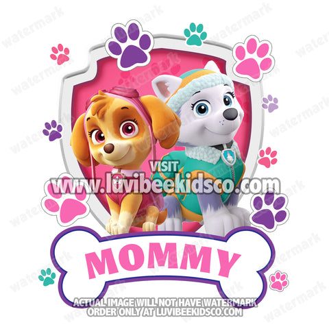 Paw Patrol Iron On Transfer - Birthday Boy's Mom