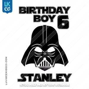 Darth Vader Heat Transfer Design | Birthday Boy - LuvibeeKidsCo