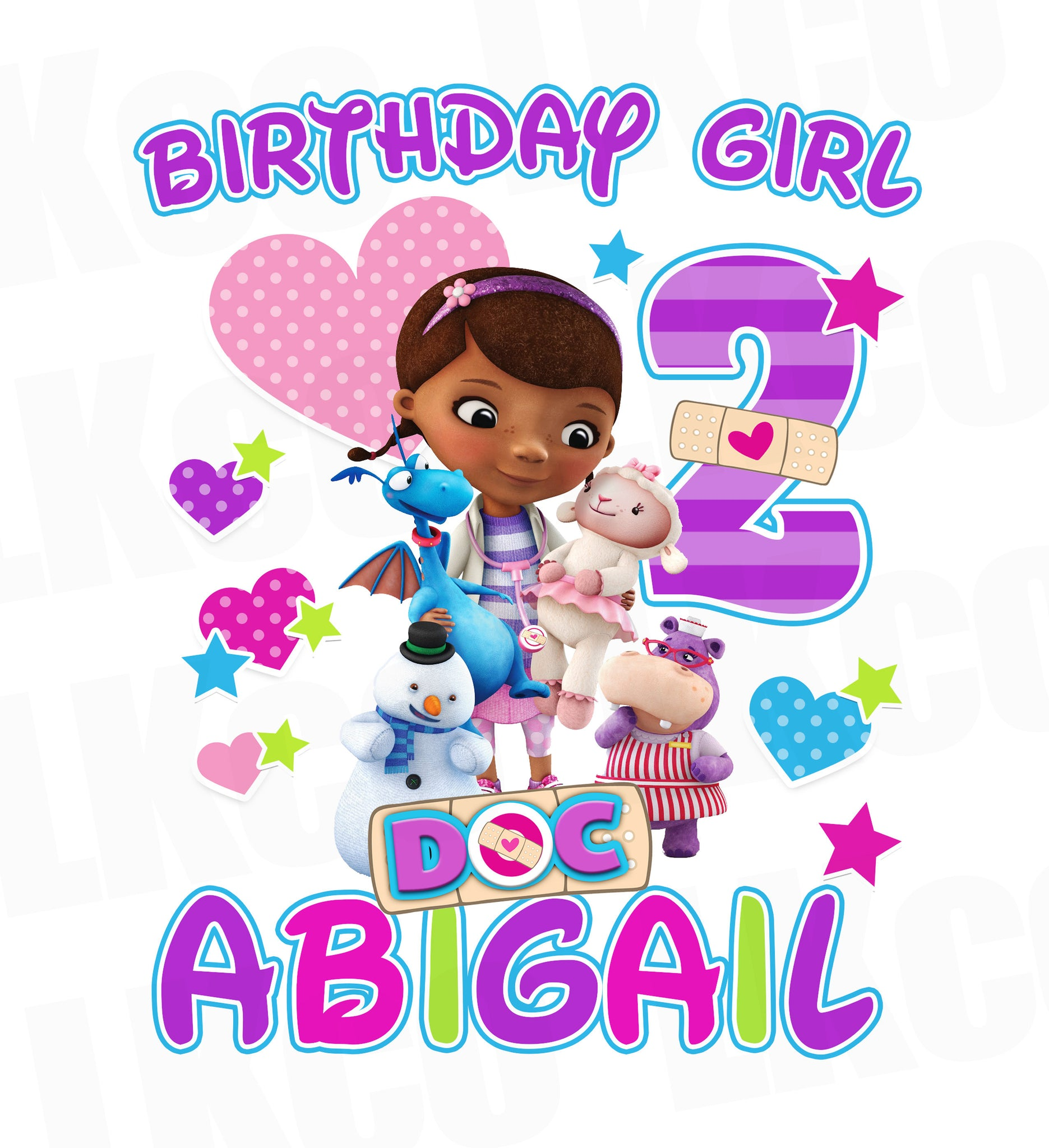 Doc McStuffins Iron On Transfer | Birthday Girl - LuvibeeKidsCo