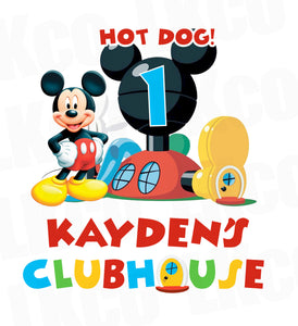 Mickey Mouse Iron On Transfer | Clubhouse | Primary Colors - LuvibeeKidsCo