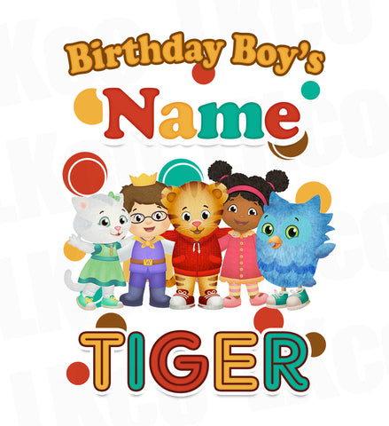 Daniel Tiger Iron On Transfer for Boy or Girl | Add Any Family Member