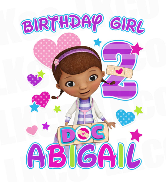 Doc McStuffins Iron On Transfer | Birthday Girl 02 - LuvibeeKidsCo