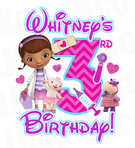 Doc McStuffins Birthday Design | Purple & Pink - LuvibeeKidsCo