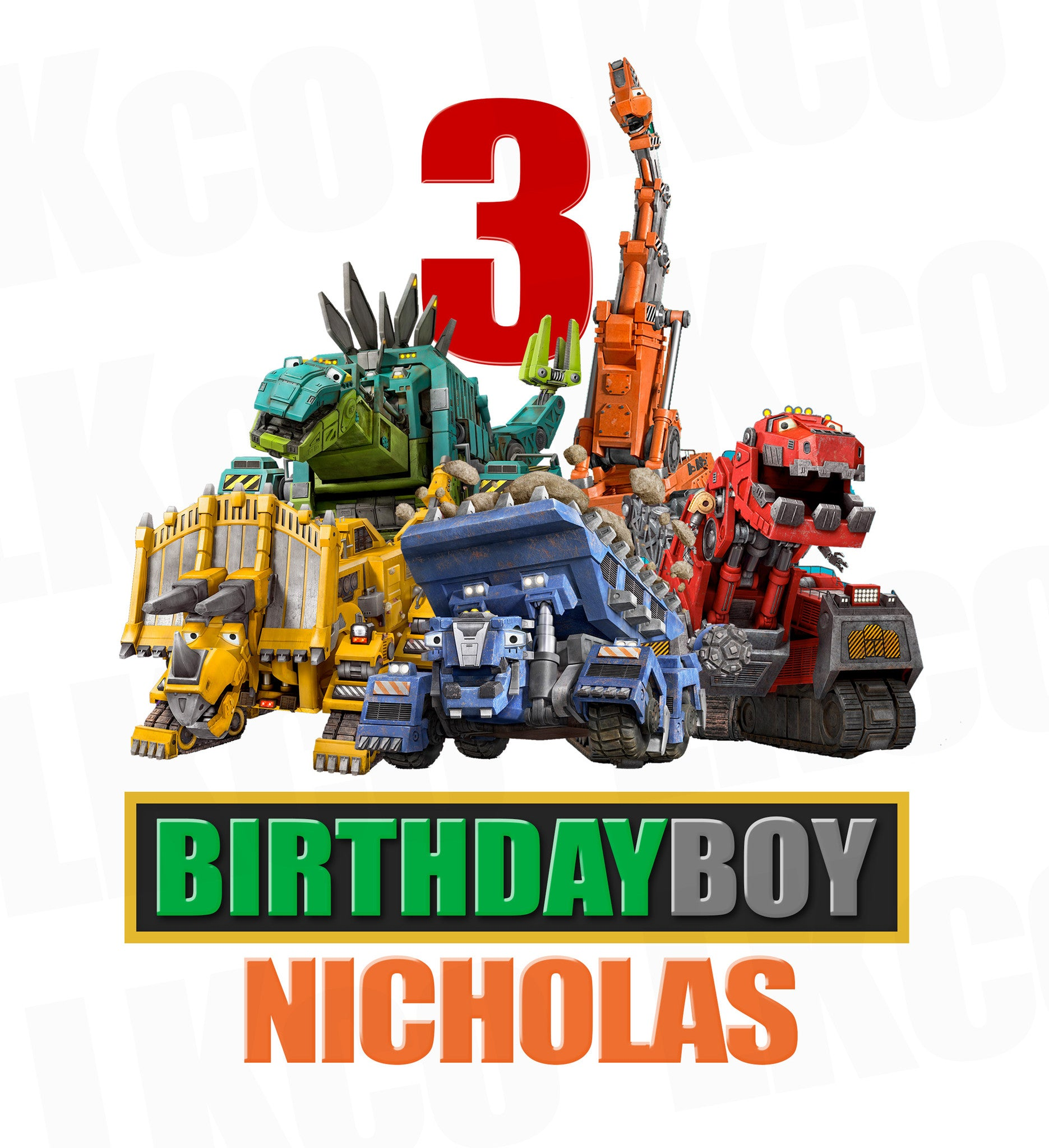 Dinotrux Iron On Transfer | Birthday Boy - LuvibeeKidsCo