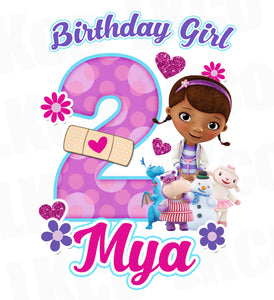 Doc McStuffins Birthday Design | Purple Dots - Birthday Girl - LuvibeeKidsCo