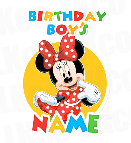 Mickey Mouse Iron On Transfer | Add A Family Member | Minnie Mouse - LuvibeeKidsCo
