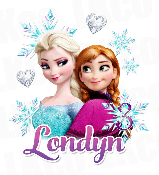 Frozen Iron On Transfer | Elsa & Anna - LuvibeeKidsCo