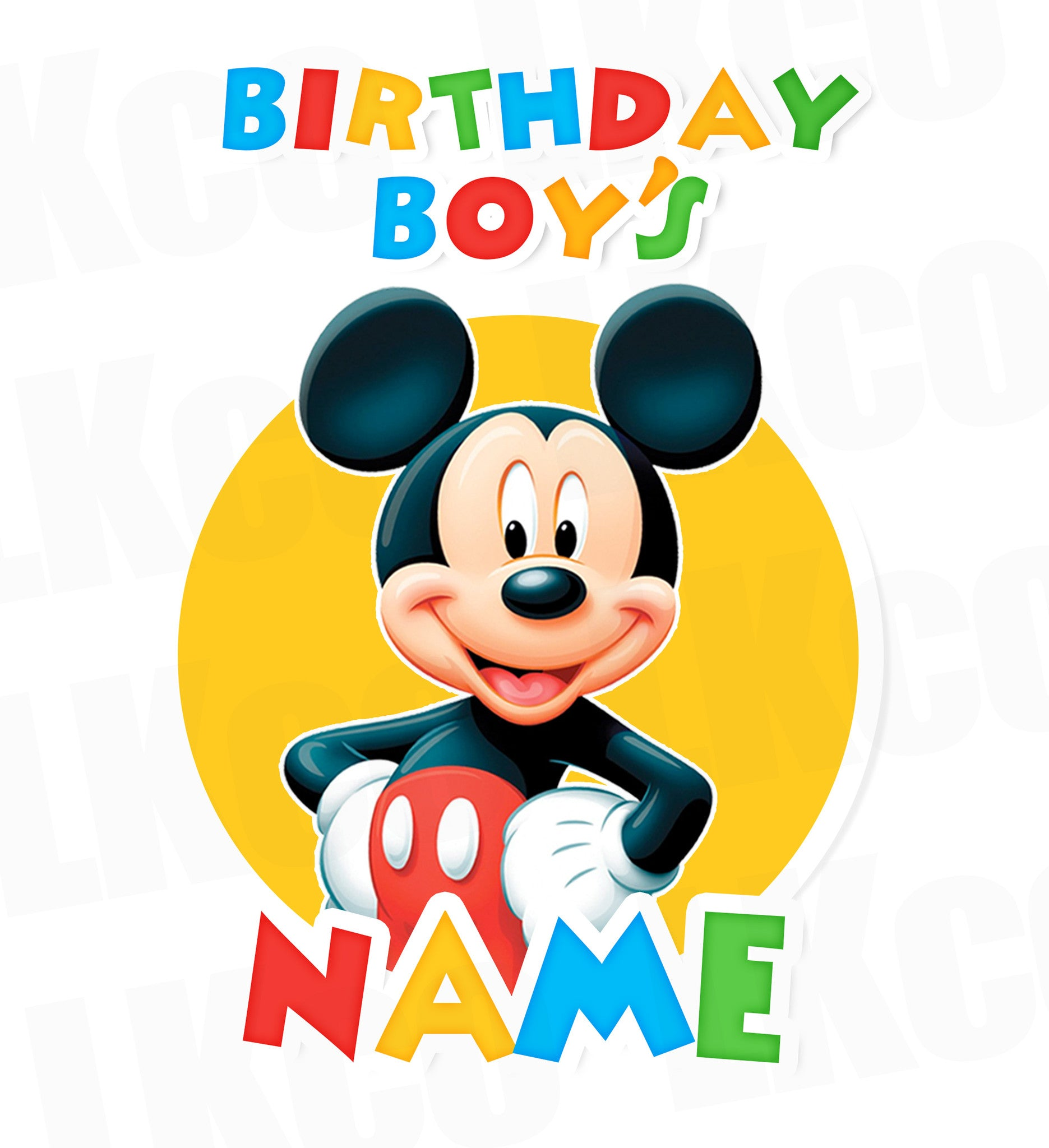Mickey Mouse Iron On Transfer | Add A Family Member | Primary Colors - LuvibeeKidsCo