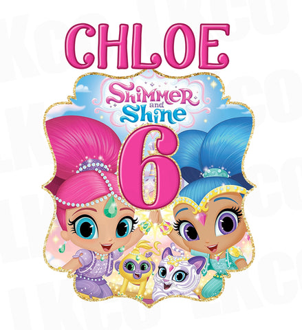 Shimmer and Shine Iron On Transfer