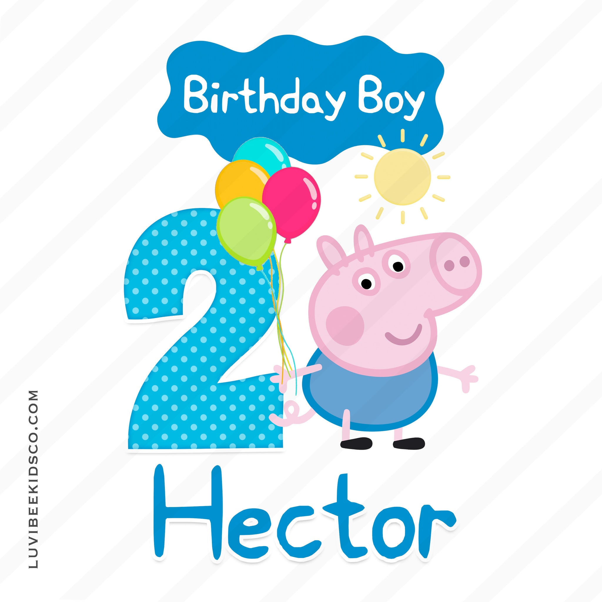 George Pig Iron On Birthday Shirt Transfer - Birthday Boy - LuvibeeKidsCo