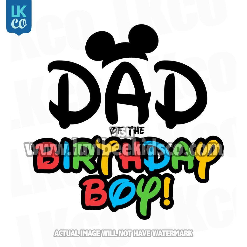 495fb117 ... Mickey Mouse Iron On Transfer   Mom or Dad of the Birthday Boy   Minnie  Bow ...