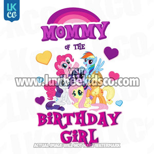My Little Pony Birthday Shirt Transfer | Pink Mommy of the Birthday Girl - LuvibeeKidsCo