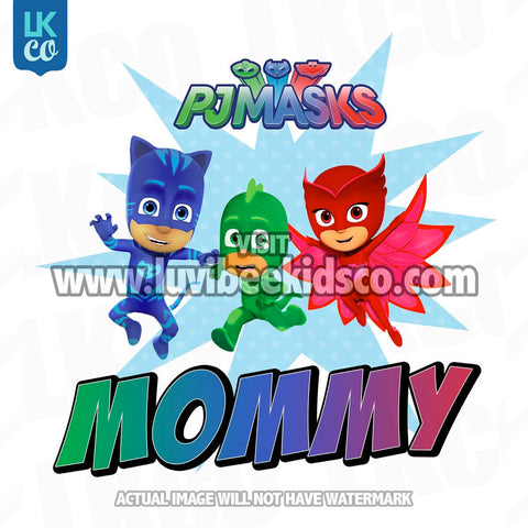 PJ Masks Iron On Transfer | Mommy
