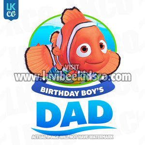Finding Nemo Iron On Transfer | Birthday Boy's Dad - LuvibeeKidsCo