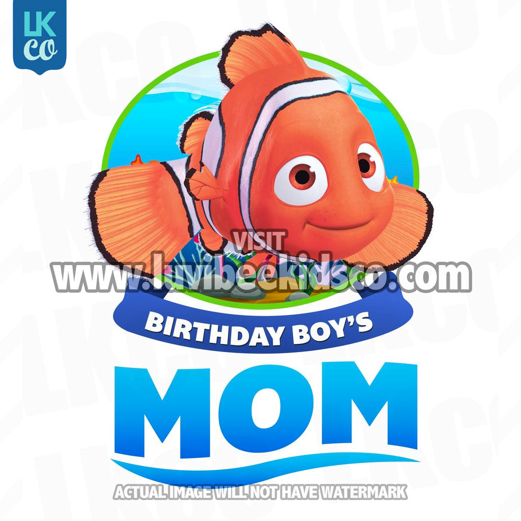 Finding Nemo Iron On Transfer | Birthday Boy's Mom - LuvibeeKidsCo