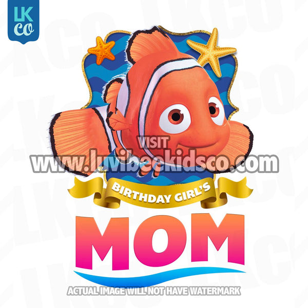 Finding Nemo & Dory Iron On Transfer | Birthday Girl's Mom - LuvibeeKidsCo