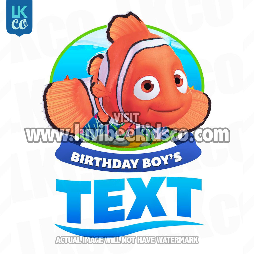 Finding Nemo Iron On Transfer - Birthday Boy | Add Family Members - LuvibeeKidsCo