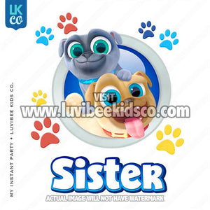 Puppy Dog Pals Iron On Transfer | Sister