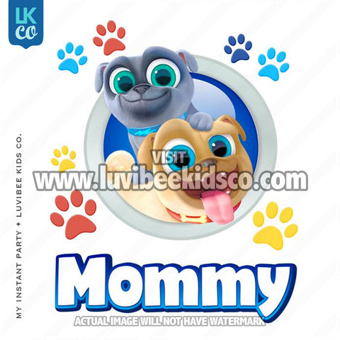 Puppy Dog Pals Iron On Transfer | Mommy - LuvibeeKidsCo