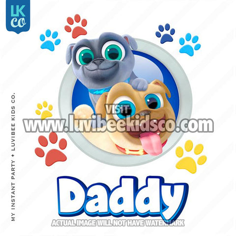 Puppy Dog Pals Iron On Transfer | Daddy - LuvibeeKidsCo