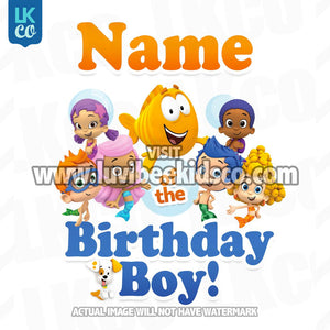 Bubble Guppies Iron On Transfer | Add Family Members | Birthday Boy - LuvibeeKidsCo