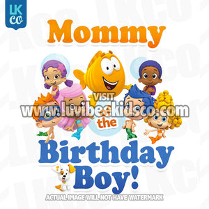 Bubble Guppies Iron On Transfer | Mommy or Daddy of the Birthday Boy - LuvibeeKidsCo