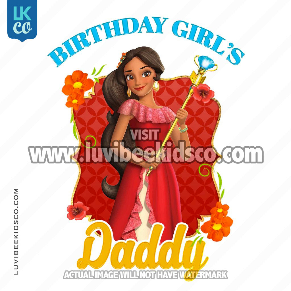 Elena of Avalor Iron On Transfer | Birthday Girl's Daddy - LuvibeeKidsCo