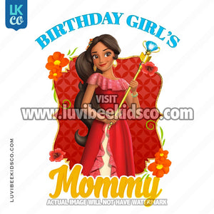 Elena of Avalor Iron On Transfer | Birthday Girl's Mommy - LuvibeeKidsCo