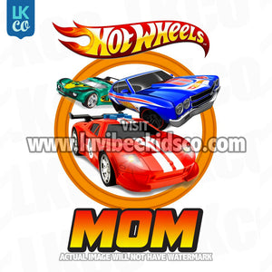 Hot Wheels Iron On Transfer | Mom - LuvibeeKidsCo
