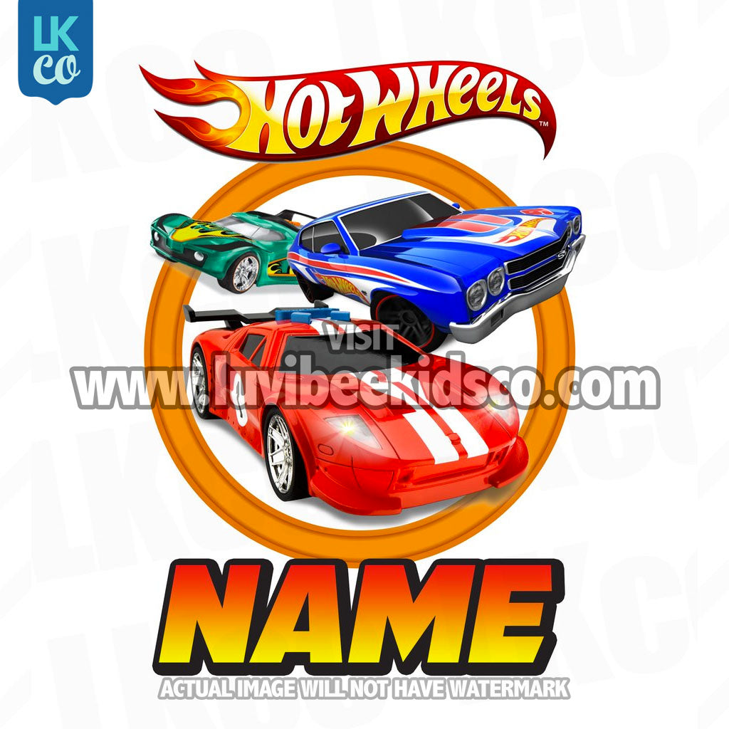 Hot Wheels Iron On Transfers - Add Family Members - LuvibeeKidsCo